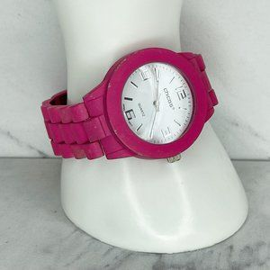 Chico's Pink Chain Link Band Watch Needs Battery